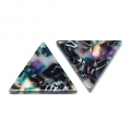 Triangle sequin in cellulose acetate 16 mm Tortoise Shell Green/Black x1