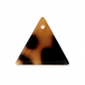 Triangle sequin in cellulose acetate 16 mm Tortoise Shell Brown/Black x1