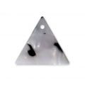Triangle sequin in cellulose acetate 16 mm Tortoise Shell White/Black x1