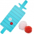 Tool to make simultaneously 6 to 8 mini pompoms of 3 and 2 cm x1