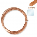 Quare nude copper wire 0.8 mm for jewelry x6m