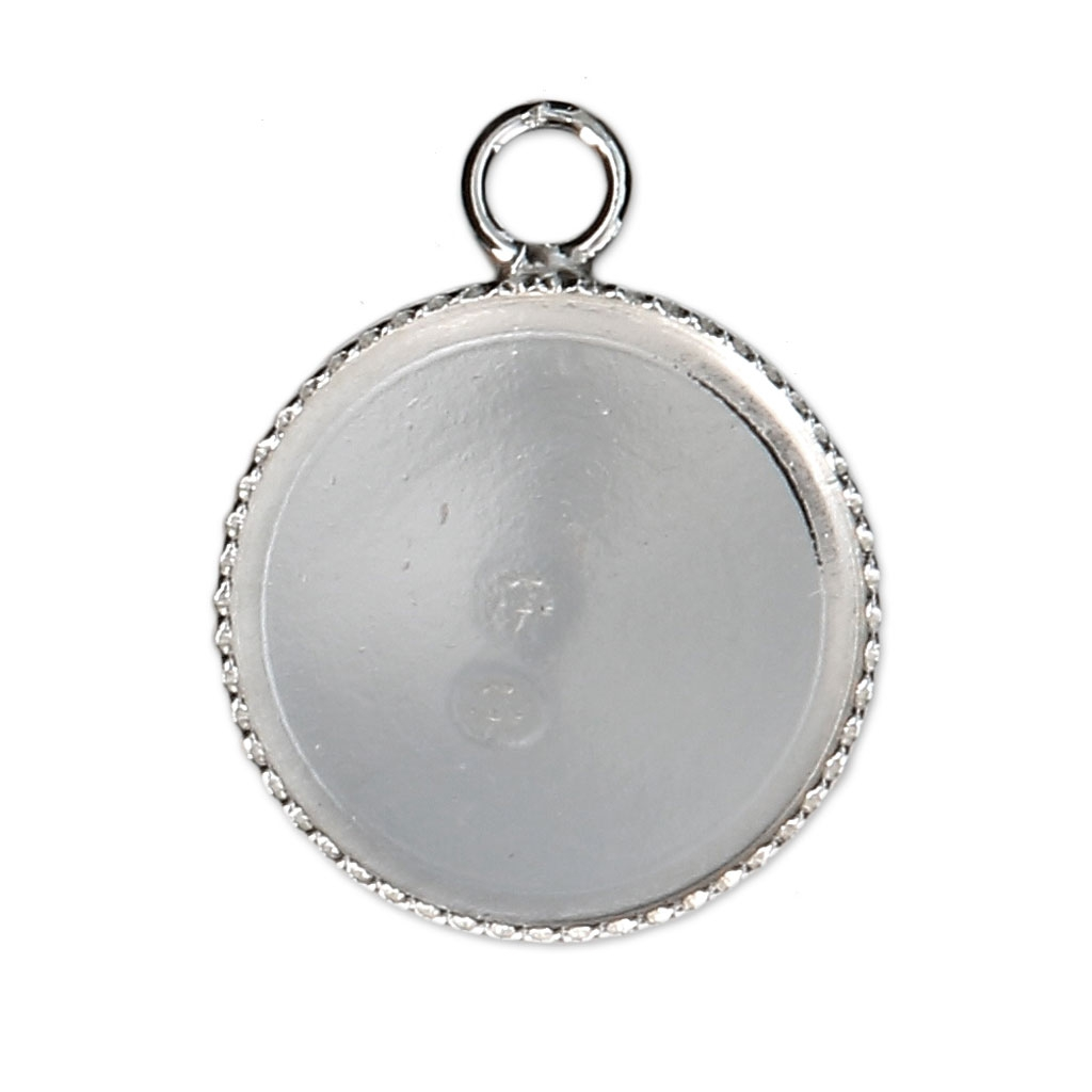 925 sterling silver pendant setting for 14 mm cabochon x1 perles co 925 sterling silver pendant setting for 14 mm cabochon x1 aloadofball Gallery
