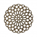 Rosette-shaped pendants 25 mm for fancy jewelry creation - Bronze Tone x4