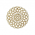 Rosette-shaped pendants 20 mm for fancy jewelry creation - Gold Tone x4