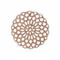 Rosette-shaped pendants 20 mm for fancy jewelry creation - Rose Gold Tone x4
