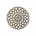 Rosette-shaped pendants 20 mm for fancy jewelry creation - Bronze Tone x4