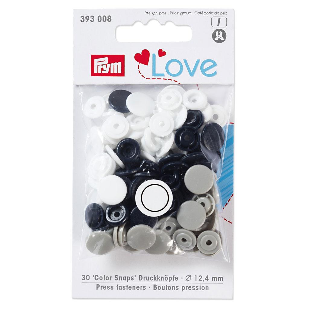 per pack of 30 Prym Love Plastic Flower Coloured Snaps Press Fasteners 393...
