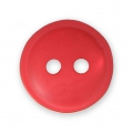 Sewing round button 2 holes mother-of-pearl appearance 12 mm Red x1