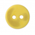 Sewing round button 2 holes mother-of-pearl appearance 12 mm Yellow x1