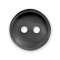 Sewing round button 2 holes mother-of-pearl appearance 12 mm Black x1