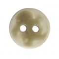 Sewing round button 2 holes mother-of-pearl appearance 12 mm Ivory x1