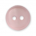 Sewing round button 2 holes mother-of-pearl appearance 12 mm Pink x1
