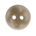 Sewing round button 2 holes mother-of-pearl appearance 12 mm Taupe x1