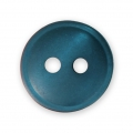 Sewing round button 2 holes mother-of-pearl appearance 12 mm Pigeon Blue x1
