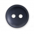 Sewing round button 2 holes mother-of-pearl appearance 12 mm Navy Blue x1