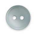 Sewing round button 2 holes mother-of-pearl appearance 12 mm Grey x1
