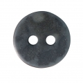 Sewing round button 2 holes mother-of-pearl appearance 12 mm Dark Grey x1