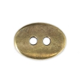 Oval hammered button 14x10 mm Bronze Tone x1