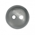 Sewing round button 2 holes mother-of-pearl appearance 12 mm Silver x1