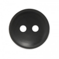 Sewing round button 2 holes matt appearance 12 mm Black x1