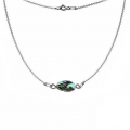 925 Sterling Silver Fine oval mesh choker to personalize with beads 44 cm x1