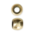 14Kt Gold-Filled Stopper bead 4 mm with a 2 mm hole x1