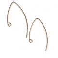 14K Gold filled earwires 23 mm x2