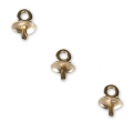 14 Kt Gold-Filled pendant caps/holder for 4/6/8 mm half-drilled x1