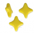 Star Beads glass beads by Perles and Co 11x11 mm Opaque Jaune x30