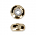 Metal stopper bead 8x4 mm with 2 mm hole - Gold Tone x1