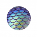 Resin cabochon 12 mm Resin cabochon effect - Green AB x1