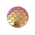 Resin cabochon 12 mm Resin cabochon effect - Topaz AB x1