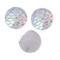 Resin cabochon 12 mm Resin cabochon effect - Crystal AB x1