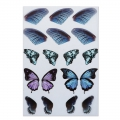 2 printed boards with butterfly wings for resin jewelry - Violet/Blue