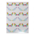 2 printed boards with butterfly wings for resin jewelry - Multicolored