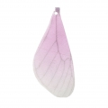 Butterfly wings pendant with 2 holes 42.5x17 mm Mauve et Brown x1