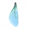 Butterfly wings pendant with 2 holes 42.5x17 mm Blue/Brown x1