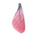 Butterfly wings pendant with 2 holes 42.5x17 mm Fuchsia/Brown x1