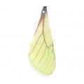 Butterfly wings pendant with 2 holes 42.5x17 mm Yellow/Brown x1