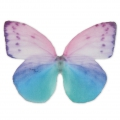 Butterfly without hole 50x35 mm Green/Violet x1