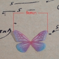 Butterfly without hole 30x21 mm Red/Blue x1