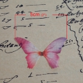 Butterfly without hole 50x35 mm Fuchsia/Violet x1