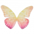 Butterfly without hole 50x35 mm Yellow/Multicolored x1