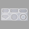 Silicone mold to make resin pendants 70 mm 6 geometric shapes