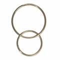 14 Kt Gold-Filled Closed interlaced loops 22 and 17 mm x1