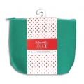 Cotton pouch with zipper make-up kit format 17x14cm Almond Green x1