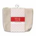 Cotton pouch with zipper make-up kit format  17x14cm Natural x1