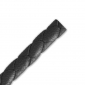 Braided leather cord 5 mm Black x 50 cm