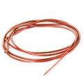 Smooth french wire/purls for embroidery - or embroidery jewels 1 mm Dark Orange