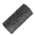 Linhasita wax thread bobbin for micro macrame 0.75 mm Dark Grey (665) x250m